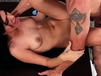 Attractive Audrey Royal gets her box tamed