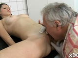 Adorable young hottie Petra eagerly sucking off