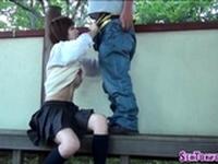 Japanese teen cummed