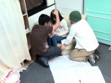 Asian teen gets naked