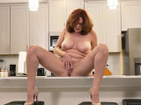Florida milf Rebecca shows whats cooking in the kitchen