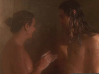 SMALL-TITTED chick goes lesbian in the SWINGER HOUSE