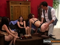Play naughty with these horny swingers