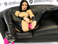 Roxee Couture Fucks A HUGE Silicone Dildo From John Thomas