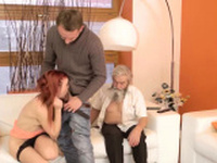 Creampie old fat granny and my step daddy Unexpected