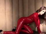 Red latex fetishist Olivia