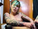 Tattoo pornstar sex with creampie