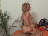Wife finds out old blonde mommy riding hubbys cock