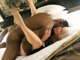 Big breasted amateur blonde gets pumped full of black meat