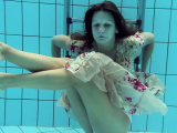 Lucy Gurchenko Russian hairy babe in the pool naked