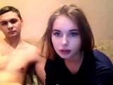 Seductive teen webcam striptease