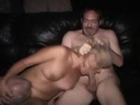 Real slut gets licked as she sucks cock