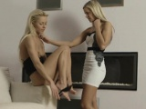 Lesbian hottie toys wet pussy of her girlfriend truly hard