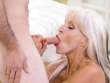 Eaten out mature blonde with huge boobs