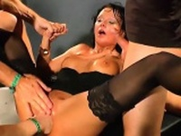 Horny hunks are disposing their sated cream on beautys face