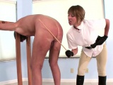 Dominatrix loves whipping old man