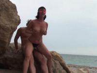 Hot Mature Couple At Nude Beach Sex Affair 1