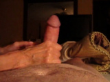 amateur girl plays with my big white cock !