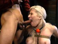 Jail domination and bondage gape Big-breasted blondie