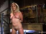 Bound Blonde Mouth Fucked