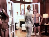 Amateur babes swapping partners in swinger show