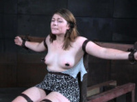 Bound slave whipped and punished with toys
