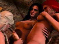 Warcraft and The Witcher futanari porn compilation 44