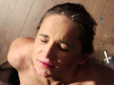 Nasty model gets cumshot on her face eating all the s77WAg