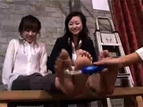 China group girls tickle legs