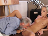Voracious blonde woman gets her tiny love tunnel screwed