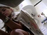 Brunette amateur gives bf hot blowjob in hidden camera