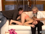 Daddy cream and old man sucking pussy Unexpected