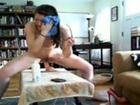 Web cam anal brunet dildo 1