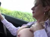 Cheating british mature lady sonia unveils her huge boobies9