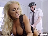 Brunette milf cheats on husband Having Her Way With A