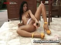 Super hot indian babe working on a big part2