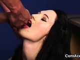 Kinky idol gets sperm shot on her face sucking all th73zYM