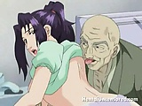 Sweety brunette hentai honey getting succulent pussy licked