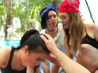 Slut tighty adventure teens got smashed in a outdoor sex
