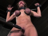 Gagged sub whipped and spanked until red raw