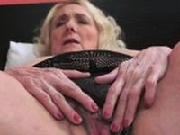 Busty grandmother sucking