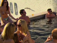 Amateur couples attend group sex in The Red Orgy Room