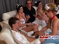 Swinger couples have a funny and naughty doctor role play