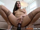Ass fucked slut swallows