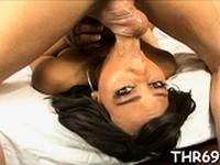 Lusty brunette black floozy gets awesome bang