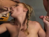 Teen gets her mouth and enchanting twat fucked unfathomable