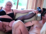 Giggly grannys sharing cock