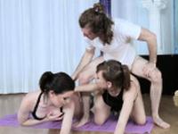 College slut dp Yoga Perv