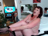 Redhead beauty uses hands to masturbate her pussy