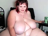 Chubby mature brunette uses toys to masturbate